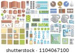 vector set. green city. top... | Shutterstock .eps vector #1104067100