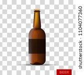 plastic beer bottle on... | Shutterstock .eps vector #1104077360