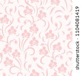 seamless floral pattern with... | Shutterstock .eps vector #1104081419