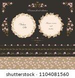 set of design elements frames ... | Shutterstock .eps vector #1104081560