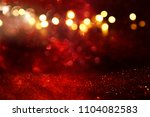 red glitter vintage lights... | Shutterstock . vector #1104082583