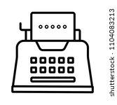 vector typewriter icon    Shutterstock .eps vector #1104083213