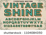 hand drawn typeface set  brush... | Shutterstock .eps vector #1104084350