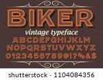 classic vintage decorative font ... | Shutterstock .eps vector #1104084356