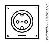 socket icon vector   Shutterstock .eps vector #1104085736