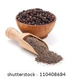 Milled Black Pepper Isolated O...
