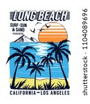 california  los angeles beach... | Shutterstock .eps vector #1104089696
