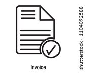 invoice icon vector isolated on ... | Shutterstock .eps vector #1104092588