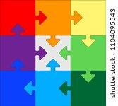 frame  puzzle  order | Shutterstock .eps vector #1104095543