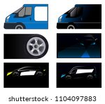 business card  car  auto | Shutterstock .eps vector #1104097883