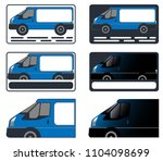 business card  car  minibus ... | Shutterstock .eps vector #1104098699