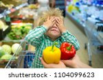 choice blindly. hide and seek.... | Shutterstock . vector #1104099623