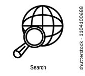 search icon vector isolated on...