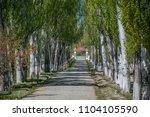 gate of military sanatorium in... | Shutterstock . vector #1104105590