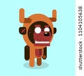 werewolf cartoon character... | Shutterstock .eps vector #1104105638