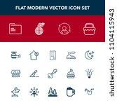 modern  simple vector icon set...   Shutterstock .eps vector #1104115943