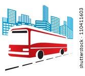 city bus | Shutterstock .eps vector #110411603