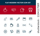 modern  simple vector icon set...   Shutterstock .eps vector #1104117089
