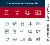 modern  simple vector icon set... | Shutterstock .eps vector #1104119483