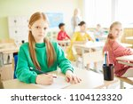 serious and clever elementary... | Shutterstock . vector #1104123320