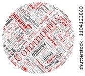 conceptual community  social ... | Shutterstock . vector #1104123860