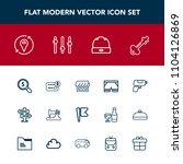 modern  simple vector icon set...   Shutterstock .eps vector #1104126869