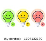 es  no  maybe. light bulb cute... | Shutterstock .eps vector #1104132170