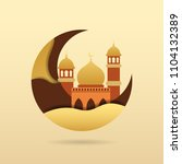 mosque vector with creative... | Shutterstock .eps vector #1104132389
