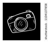 camera doodle icon vector flat... | Shutterstock .eps vector #1104137858