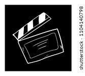 contour clapper board video... | Shutterstock .eps vector #1104140798