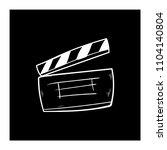 contour clapper board video... | Shutterstock .eps vector #1104140804