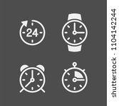 clock flat vector icons set.... | Shutterstock .eps vector #1104142244