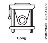 gong icon vector isolated on... | Shutterstock .eps vector #1104151370