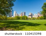 central park at sunny day  new... | Shutterstock . vector #110415398