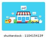 online store  eshop  internet...   Shutterstock .eps vector #1104154139