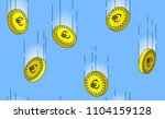 euro gold coins falling in the... | Shutterstock .eps vector #1104159128