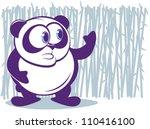 cute panda with bamboo...