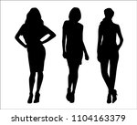 sexy woman. business woman | Shutterstock .eps vector #1104163379