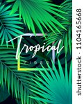 summer tropical background... | Shutterstock .eps vector #1104165668