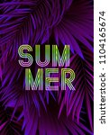 summer tropical background... | Shutterstock .eps vector #1104165674