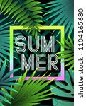 summer tropical background... | Shutterstock .eps vector #1104165680
