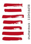 red vector brush strokes...   Shutterstock .eps vector #110416658