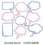 comic bubble speech | Shutterstock .eps vector #110416808