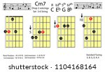 guitar chords.c minor7 drop2...   Shutterstock .eps vector #1104168164
