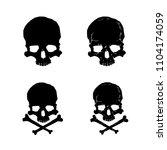 Skull Silhouette Vector Set....