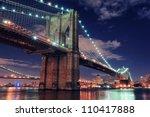 Brooklyn Bridge Closeup Over...