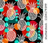 seamless pattern with tropical...   Shutterstock .eps vector #1104179399