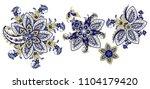 set of paisley | Shutterstock .eps vector #1104179420