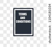 terms and conditions vector... | Shutterstock .eps vector #1104181034