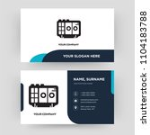 voice recorder  business card... | Shutterstock .eps vector #1104183788